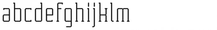 Tecnica Slab Alternate Font LOWERCASE