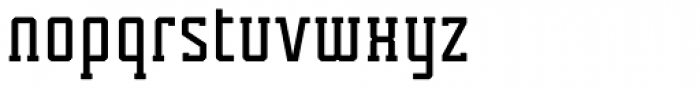 Tecnica Slab Bold Alternate Font LOWERCASE