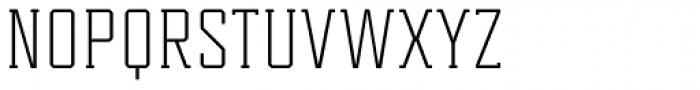 Tecnica Slab Regular Font UPPERCASE