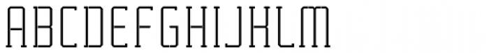 Tecnica Slab Stencil 1 Rg Alt  Font UPPERCASE