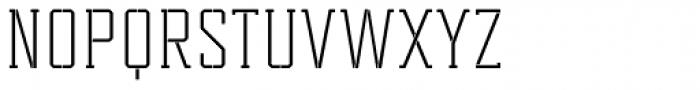 Tecnica Slab Stencil 1 Rg Font UPPERCASE