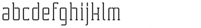 Tecnica Slab Stencil 2 Rg Alt Font LOWERCASE