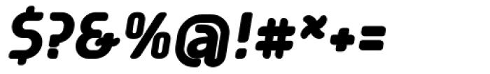 Tecpana Bold Italic Font OTHER CHARS