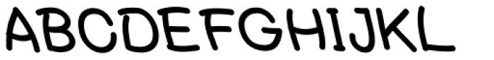 Tectura II Backhand Font UPPERCASE
