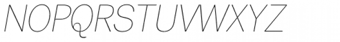 Tee Franklin UltraLight Oblique Font UPPERCASE