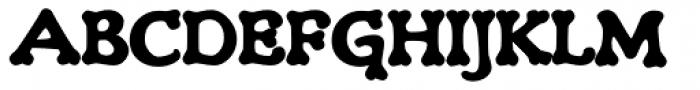 Teebone Rear Font UPPERCASE