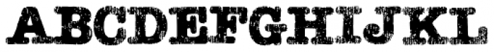 Teeshirt Regular Font UPPERCASE
