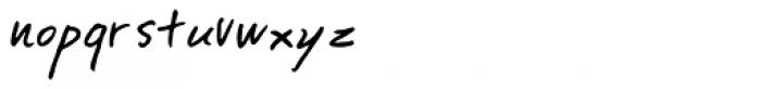 Tegami Font LOWERCASE