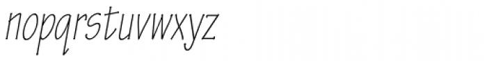 Tekton Pro Cond Light Obl Font LOWERCASE