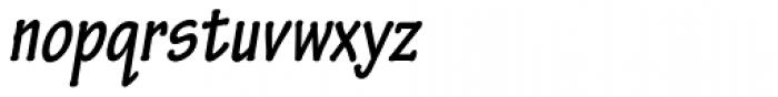 Tekton Pro Condensed Bold Oblique Font LOWERCASE