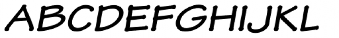 Tekton Pro Ext Bold Obl Font UPPERCASE