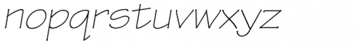 Tekton Pro Extended Light Oblique Font LOWERCASE