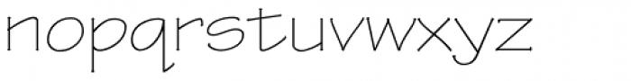 Tekton Pro Extended Light Font LOWERCASE