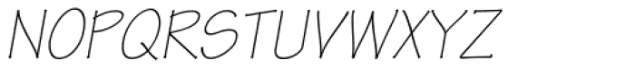 Tekton Pro Light Obl Font UPPERCASE