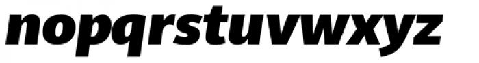 Telder HT Pro Black Italic Font LOWERCASE