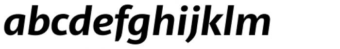 Telder HT Pro Bold Italic Font LOWERCASE