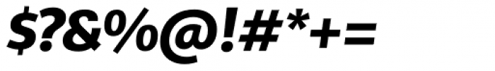 Telder HT Pro Extra Bold Italic Font OTHER CHARS