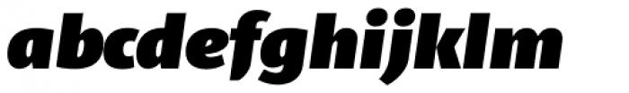 Telder HT Pro Heavy Italic Font LOWERCASE