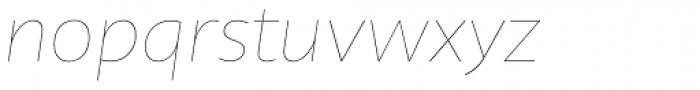 Telder HT Pro Thin Italic Font LOWERCASE