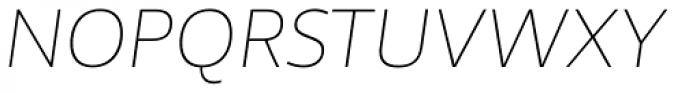 Telder HT Pro Ultra Light Italic Font UPPERCASE