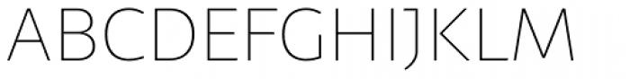 Telder HT Pro Ultra Light Font UPPERCASE