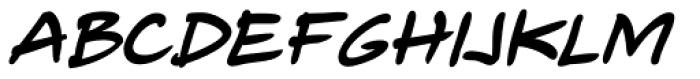 Telefante Black Italic Font UPPERCASE