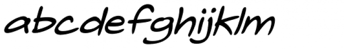 Telefante Bold Italic Font LOWERCASE