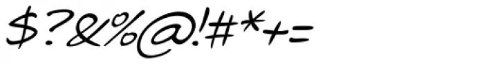 Telefante Italic Font OTHER CHARS