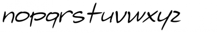 Telefante Italic Font LOWERCASE