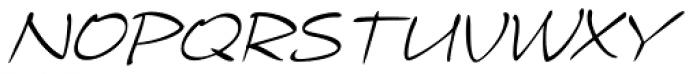 Telefante Light Italic Font UPPERCASE
