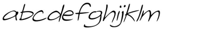 Telefante Light Italic Font LOWERCASE