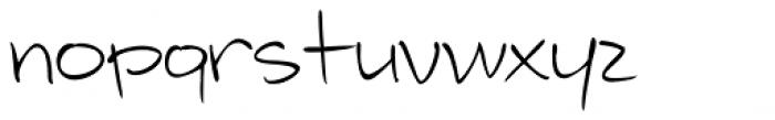 Telefante Light Font LOWERCASE