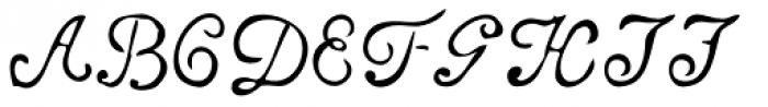 Telegdi Pro Script Font UPPERCASE