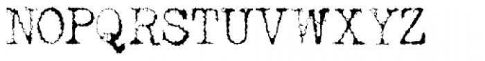 Telepath Zero Font UPPERCASE