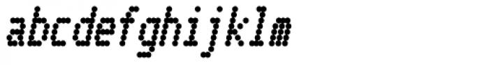 Telidon Cond Heavy Italic Font LOWERCASE