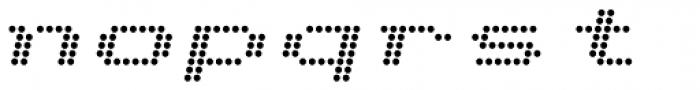 Telidon Extended Bold Italic Font LOWERCASE