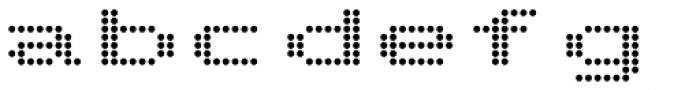 Telidon Extended Bold Font LOWERCASE