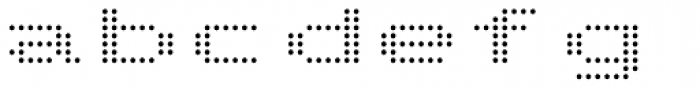 Telidon Extended Font LOWERCASE