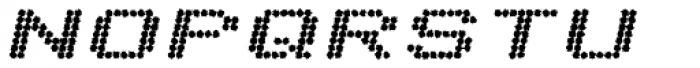 Telidon Ink Extended Heavy Italic Font UPPERCASE