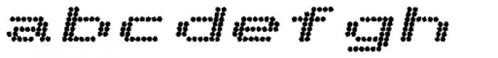 Telidon Ink Extended Heavy Italic Font LOWERCASE