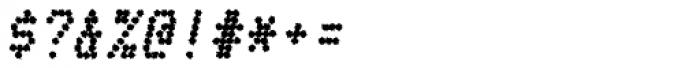 Telidon Ink Heavy Italic Font OTHER CHARS