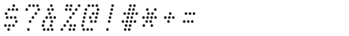 Telidon Italic Font OTHER CHARS