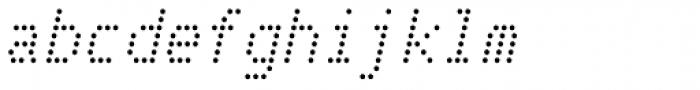 Telidon Italic Font LOWERCASE