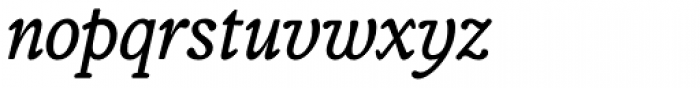 Telltale Italic Font LOWERCASE