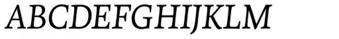 Tempera Biblio Pro Book A Italic Font UPPERCASE