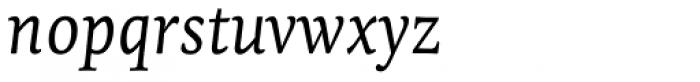 Tempera Biblio Pro Book A Italic Font LOWERCASE