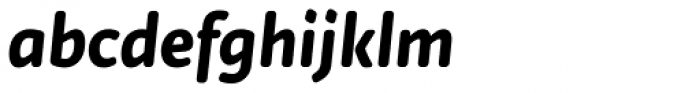 Tempera Rose Pro Bold Italic Font LOWERCASE