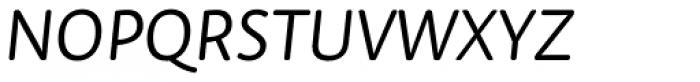Tempera Rose Pro Book A Italic Font UPPERCASE