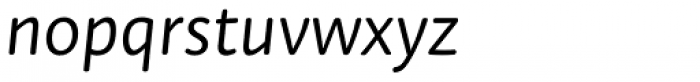 Tempera Rose Pro Book A Italic Font LOWERCASE