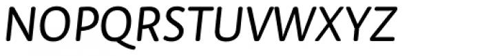 Tempera Rose Pro Book B Italic Font UPPERCASE